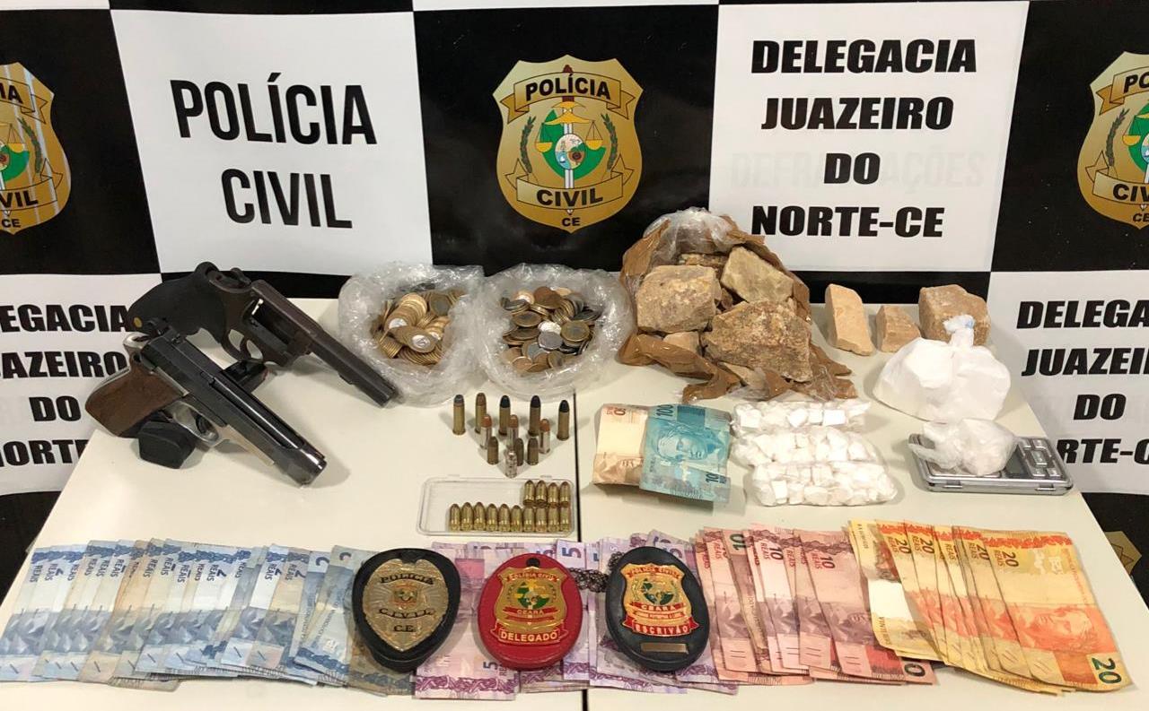 Suspeito de homicídios e tráfico é preso junto com comparsa após serem flagrados com 1.200kg de crack e 355gr de cocaína, em Juazeiro FOTO REDES SOCIAIS