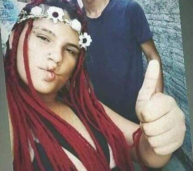 Joana Lara sofreu dois disparos de arma de fogo na região crâneo em Cedro-CE FOTO REDES SOCIAIS