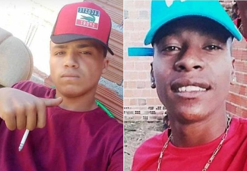 """Cauã da Silva Tavares e um maior de idade identificado como Mayron Fabiano Ferreira, vulgo """" Boró"""" foram mortos a tiros em Crato 12.,08.2020 FOTO REDES SOCIAIS"""
