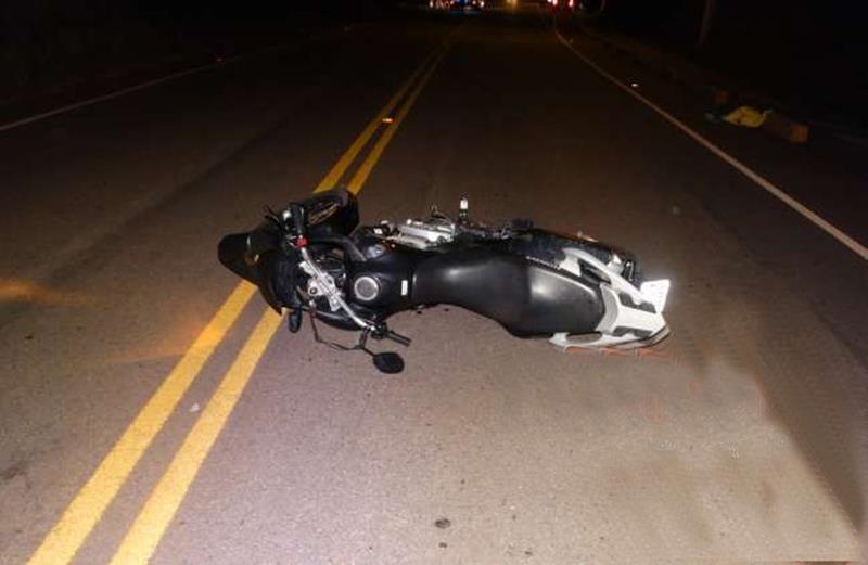 acidente com moto