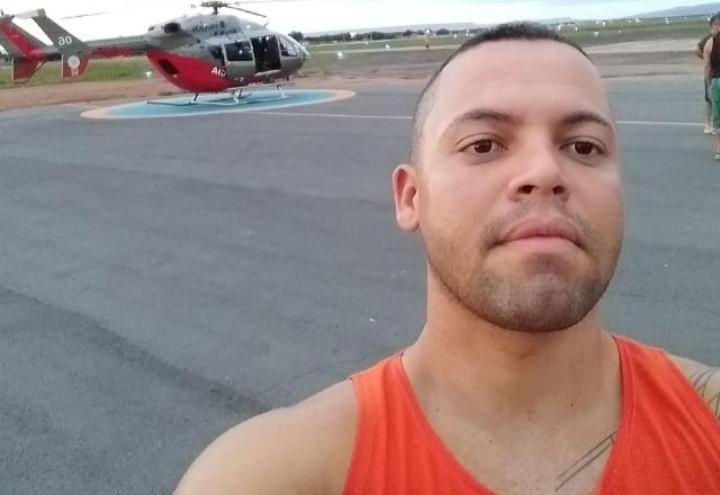 Soldado Paulo Rodolfo Gonçalves, de 33 anos lotado no Ciopaer, base Juazeiro do Norte foi lesionado a bala na axila durante briga com a esposa FOTO REDES SOCIAIS