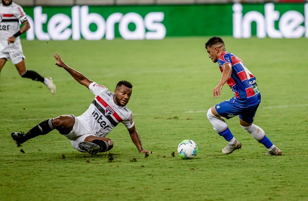 Fortaleza e São Paulo ficam no empate pela Copa do Brasil