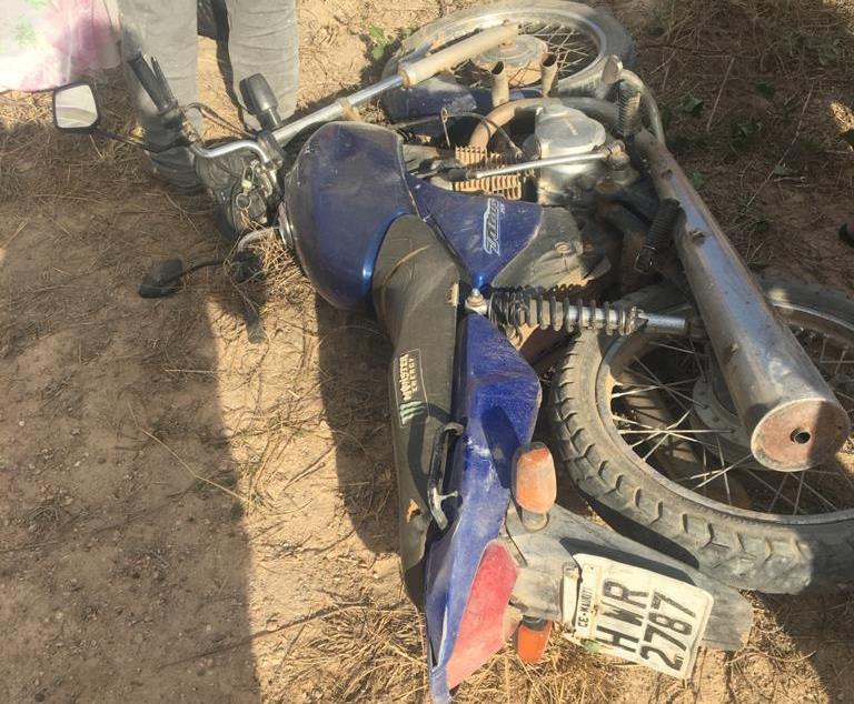 Homem morre, e outro fica ferido em queda moto na zona rural de Mauriti FOTO REDES SOCIAIS