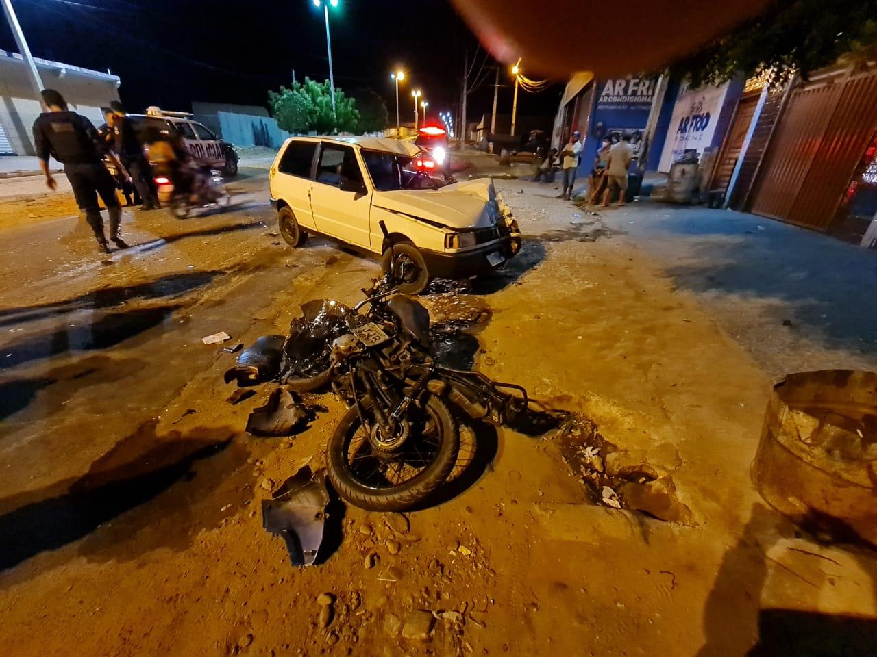 Motociclista fica gravemente ferido após colisão com carro em Mauriti (2)