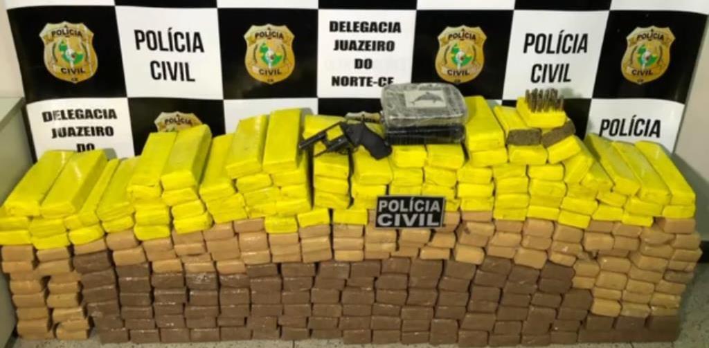 Polícia Civil apreende 250 Kg de maconha, 13 Kg de cocaína na divisa Crato no Ceará e Exu-PE; veja o vídeo