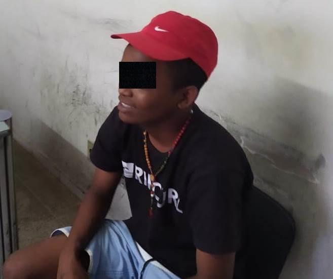 """W. A.S., vulgo """"Zé Testinha"""", 16 anos suspeito de participação no homicídio contra ogarçom Maicon Felipe dos Santos, de 27 anos, em Mauriti; FOTO: REDES SOCIAIS"""
