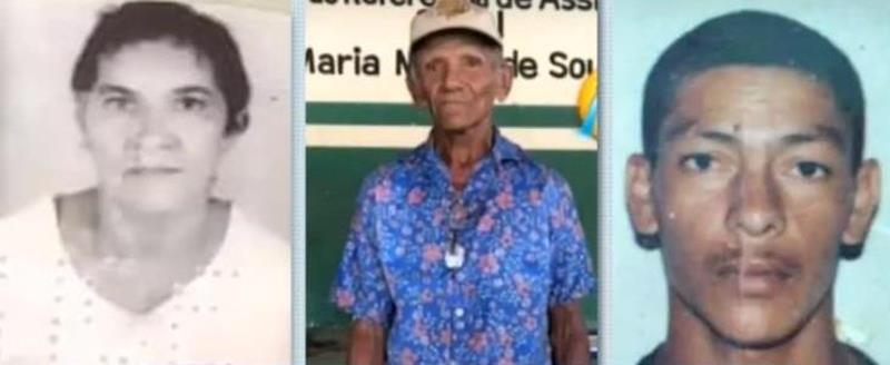 João Paulo Barbosa, 35 anos e o casal de idosos, Severino dos Ramos, de 69 e Maria de Fátima Gomes Ramos, de 70, assassinados a golpes de faca em Jatí FOTO REPRODUÇÃO