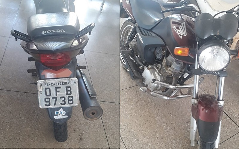 PM de Aurora recupera moto roubada na divisa dos estados do Ceará e Paraíba