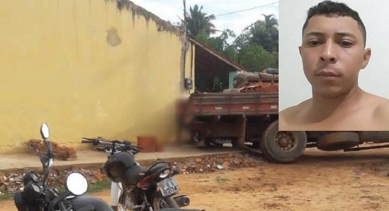 Ajudante morre imprensado entre parede e caminhão em Caririaçu FOTO REDES SOCIAIS