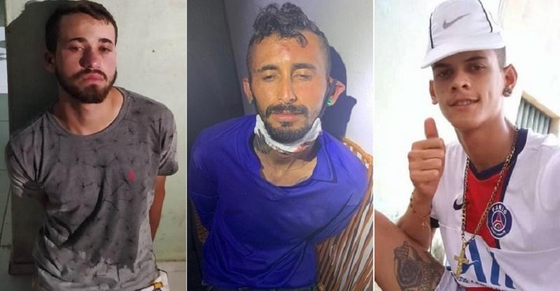 """Alexandre Lopes Lucena Soares, (Foto 1) e Cícero Josimar Pinto Soares, (Foto 2) foram presos duas horas após assassinarem a tiros, Antonio Rivio Ferreira Nobre Júnior, o """"Júnior Magrão"""", (Foto 3)"""