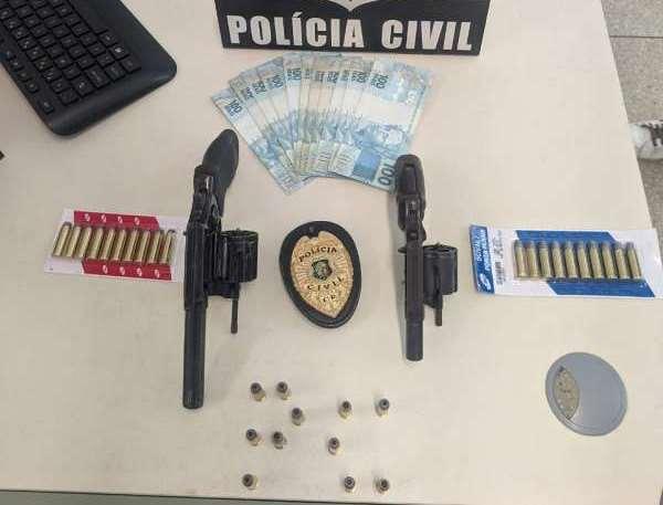 Polícia Civil de Campos Sales apreende duas armas de fogo e 31 munições