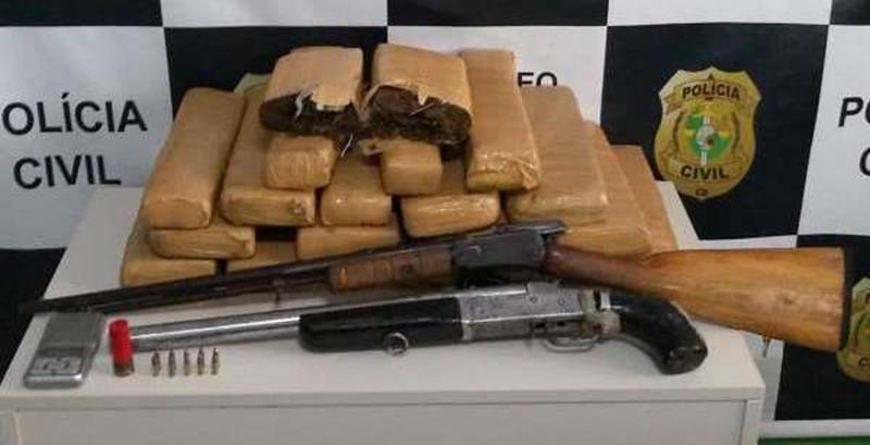 Policia-Civil-prende-integrante-de-organizacao-criminosa-e-apreende-armas-e-drogas-em-zona-rural-do-Crato-600x463