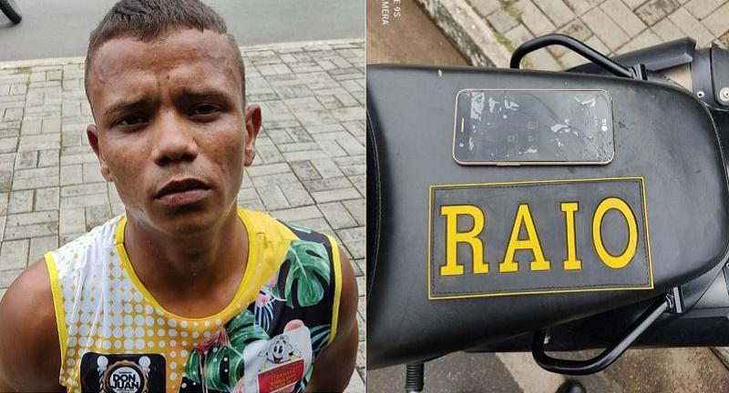 Após cometer assalto, jovem de 18 anos é preso pelo Raio em flagrante em Crato 02.março_2021