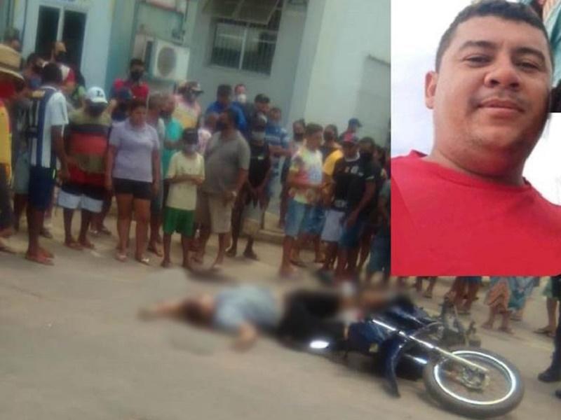 Comerciário é executado a tiros no centro de Campos Sales por dupla de desconhecidos FOTO REDES SOCIAIS