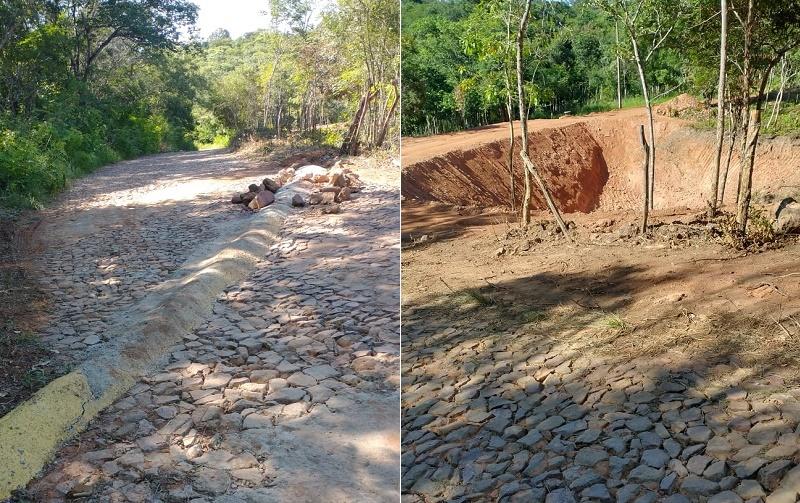 Moradores do distrito Baixio do Muquém em Crato denunciam construção de quebra mola irregular; veja o vídeo