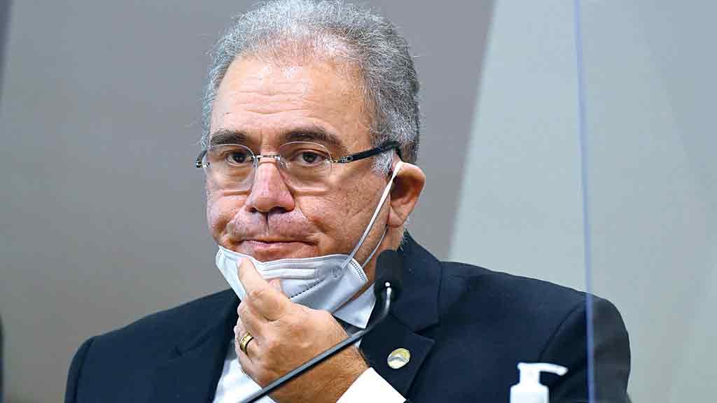 Marcelo Queiroga - Faltou com a verdade ao dar números superestimados de vacinas contratadas pelo Ministério (Crédito: Jefferson Rudy)