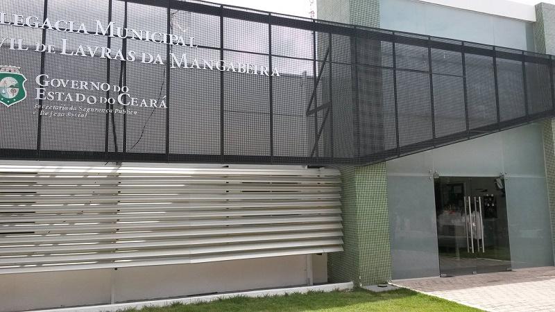 DELEGACIA MUNICIPAL DE POLÍCIA CIVIL DE LAVRAS MANGABEIRA-CE. Foto: Divulgação