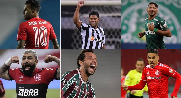 Brasileiros não terão vida fácil nas oitavas de final da Libertadores MONTAGEM/R7/EFE