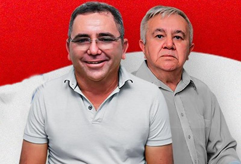 Prefeito de Araripe, Cícero Ferreira da Silva, PDT, e vice José Orlando de Albuquerque. FOTO: DIVULGAÇÃO