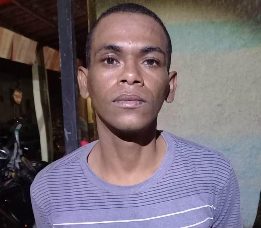 Luan Felipe de Oliveira, de 31 anos preso suspeito de participação do homicídio que teve como vítima, Jefferson de Assis Batista de 27 anos morto a tiros em Crato. 31.07.2021