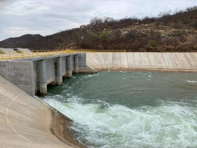 O Eixo Norte do Projeto de Integração do Rio São Francisco tem 260 quilômetros de extensão, três estações de bombeamento, 15 reservatórios, oito aquedutos e três túneis (Foto Divulgação)
