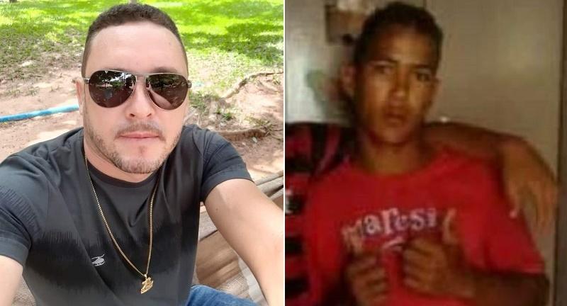 """Tiago Rodrigues de Souza, de 39 anos assassinado em Crato e Isaias Santos da Cruz, de 18, apelidado de """"Ternozinho"""", morto em Juazeiro do Norte. 14.09.2021 Foto: Redes sociais"""