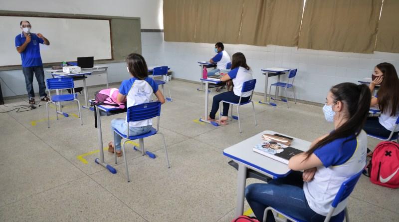 Retorno Seguro às aulas presenciais. FOTO DIVULGAÇÃO